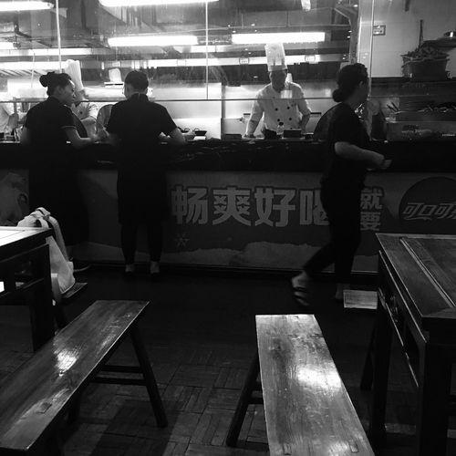Chengdu snack bar 成都小吃店 Enjoying Life Black And White