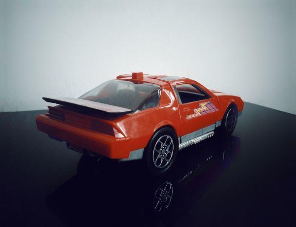 Model Car Icon 80s Timeless Time Machine Mask View Model Car Red Blackandwhite Rear View