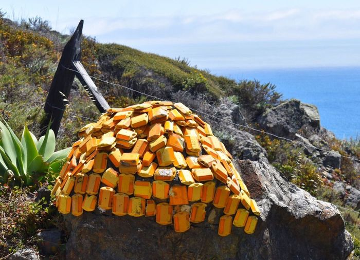 Boulder Relector Art Recycle This Is How We Do It Big Sur Ocean Landscape #Nature #photography Taking Photos Recycled Art Funny Pics The Great Outdoors