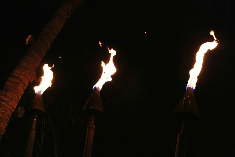 Hawaii Luau Fire torches Hawaii Oahu Honolulu  Luau Fire Torches Night Vacation Arts Culture And Entertainment