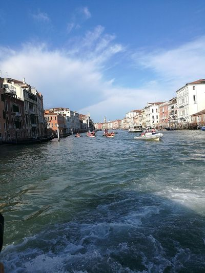 Gran Canal Moving Water City Cityscape Water Harbor Residential Building Bridge - Man Made Structure Blue Boat