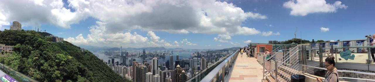 Hong Kong Cityscapes high peak Viewing Platform Skyline shyscrapers Green Hillside