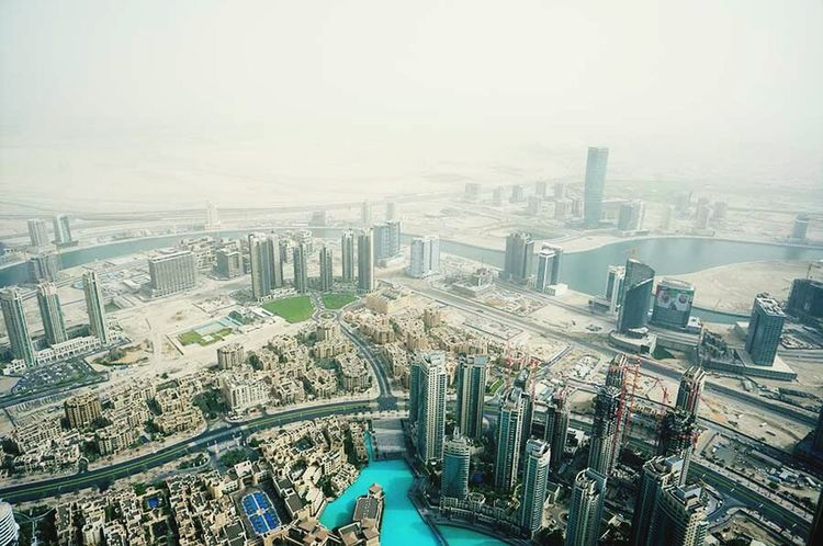 Dubai City from the Burj Khalifa The Explorer - 2014 EyeEm Awards