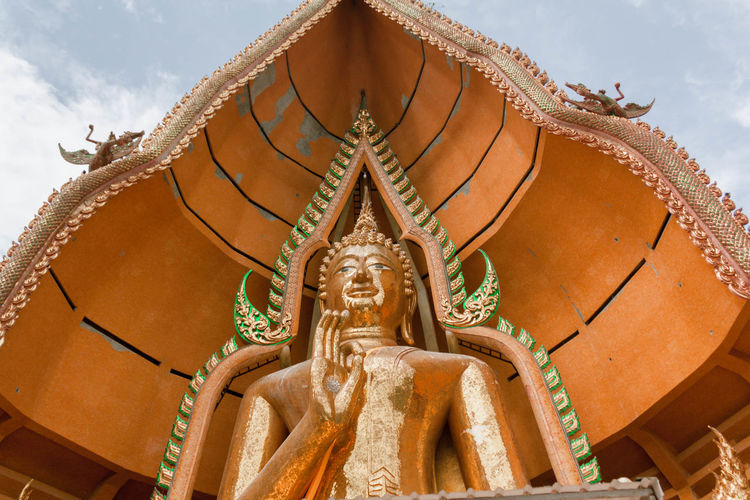im happy Happy Tampleofthailand Thailand Art And Craft Creativity Day No People Representation Sky Statue Tample