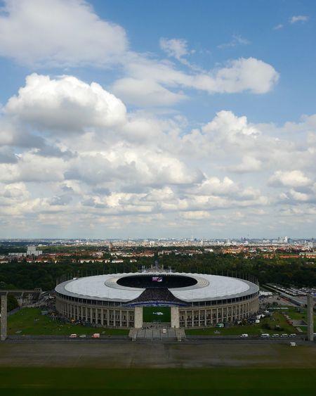 Matchday...Herta bsc berlin vs. Werder Bremen ... Cloud - Sky Outdoors Sky Stadium Sport Day Competition Discover Berlin Berlin No People Mountain Horizon Over Water Soccer Field