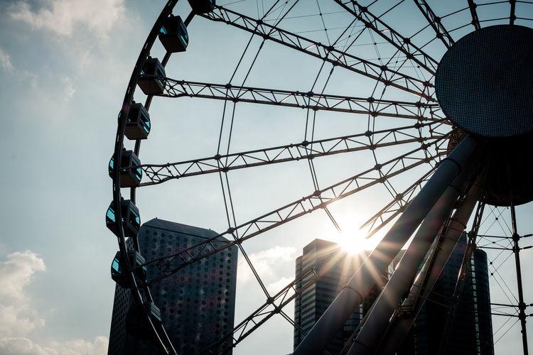Observation Wheel Sun Hong Kong Central Central Hong Kong