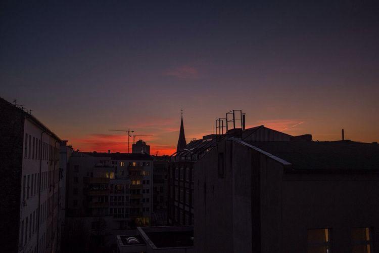 Sunset as seen