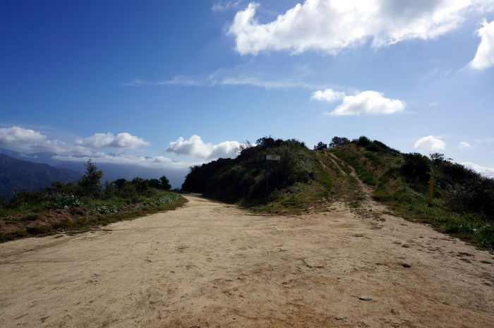 A Path Choice Cloud Cloud - Sky Day Decision Direction Dirt Road Downhill Grass Growth Hill Left Left Or Right Nature Non-urban Scene Path Right Road Sky The Way Forward Tree Up Or Down Uphill