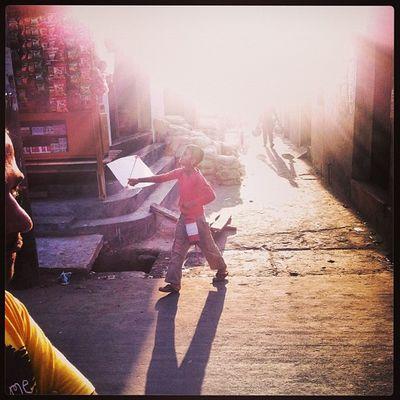 Sun Ray Light Shadow Winter Evening Street Boy Child Children Kite Play Chaktai Chittagong City Instagram The Photojournalist - 2017 EyeEm Awards The Street Photographer - 2017 EyeEm Awards