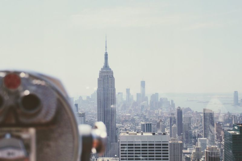 Cityscape Architecture City Building Exterior Skyscraper Coin-operated Binoculars Built Structure Travel Destinations Tower Tourism Urban Skyline Modern Day No People Sky Outdoors Downtown District Close-up Empire State Building New York
