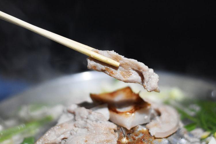 Pork in a pan,