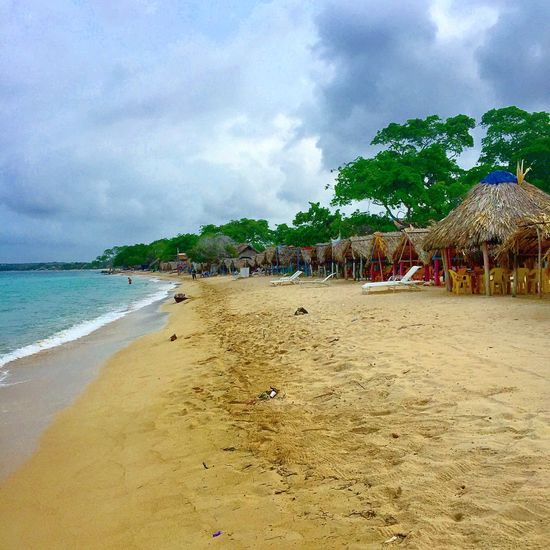 The huts of Playa Blanca Relaxing Beach Photography Beach Life Colombia