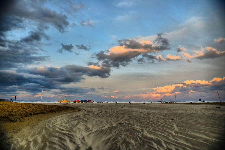 Arid Climate Beach Beauty In Nature Climate Cloud - Sky Desert Environment Land Landscape Mode Of Transportation Nature No People Non-urban Scene Outdoors Sand Scenics - Nature Sky Sunset Tranquil Scene Tranquility Transportation
