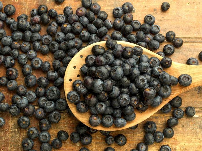 Blueberries are