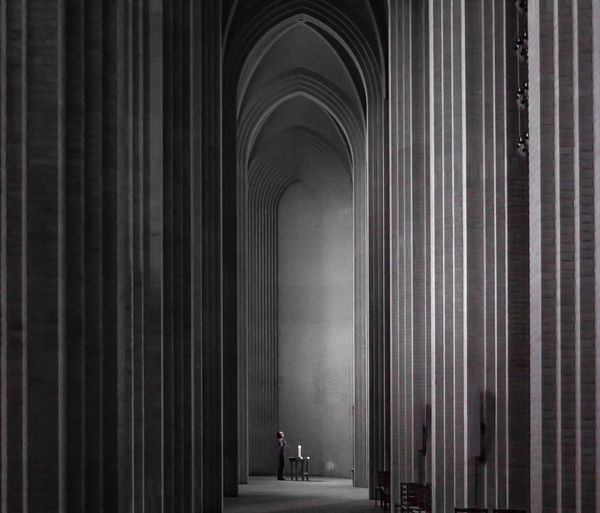 Corridor of historical building