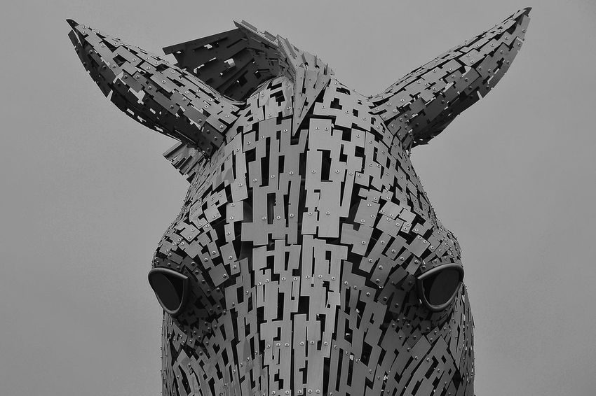 A horse looking pretty angry at me. Angry Animal Architectural Feature Architecture Architecture Architecture_collection Art ArtWork Built Structure Ears Eyes Falkirk Forboding Horse Horses Horses Head :D Iron Ironmonger Kelpies  Metal Moody Tall - High Tourism