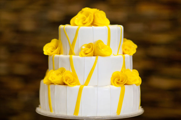 Yellow Freshness Sweet Food Indulgence Food Food And Drink Focus On Foreground Dessert Cake Sweet No People Temptation Unhealthy Eating Close-up Still Life Indoors  Baked Ready-to-eat Celebration White Color Wedding Cake Yellow Color Decorations Baking Wedding
