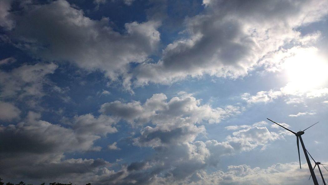 Wind Turbine Cloud - Sky Cloudscape Skylovers Dramatic Sky Clouds And Sky Skyscape Cloudporn Skyporn Sky And Clouds Cloudlovers Morning Sky Mobilephotography Japan Stratocumulus