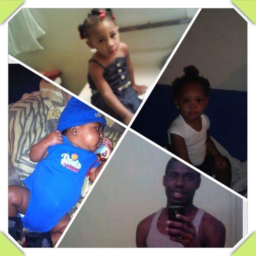 My kids n this deadbeat