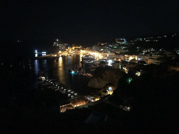 Ponza harbor Island Ponza Italy Night Illuminated Architecture City Building Exterior Water Built Structure Sea Reflection Lighting Equipment Sky Outdoors Building No People Nature Travel Destinations Cityscape High Angle View Dark Nightlife HUAWEI Photo Award: After Dark