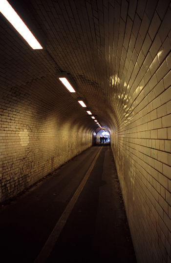 arched pedestrian underpass Built Structure Ceiling Diminishing Perspective Grimey Illuminated Indoors  Long Path Pedestrianunderground Route The Way Forward Tiled Floor Tunnel Underpasssubway Unstockunstock Walk