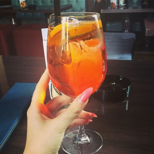 Drinks Aperol Spritz Nails Enjoying Life Relaxing Taking Photos Friends Bucharest Nailpolish Pink 🍹