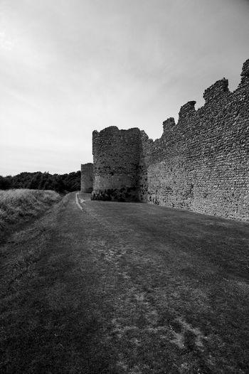 Silent Walls Castle Portchester Blackandwhite Fort History Portchester Castle Ruin Silence Walls
