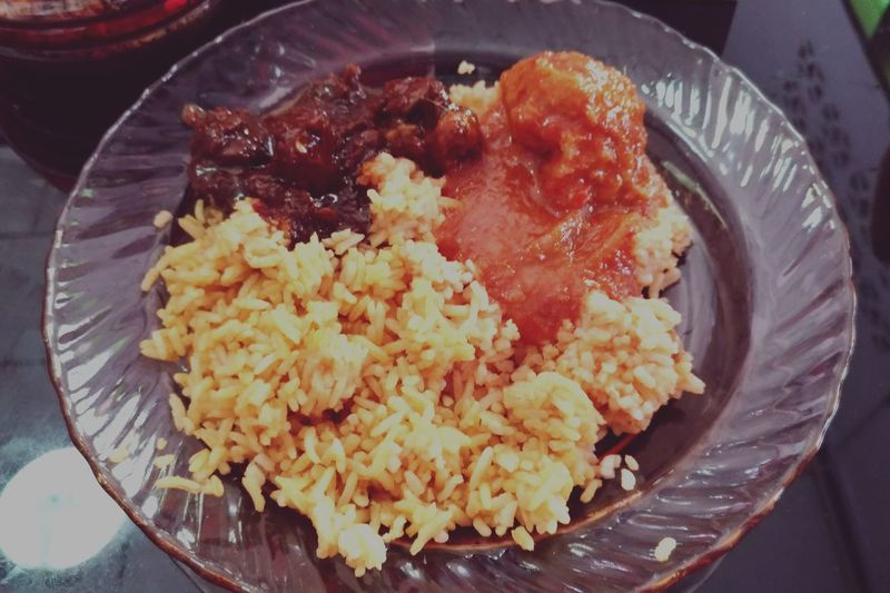Nasi tomato Malay Food Asian Food Nasi Tomato Chicken Rice Lunch Food Delicious Food EyeEm Selects Comfort Food Plate Close-up Food And Drink