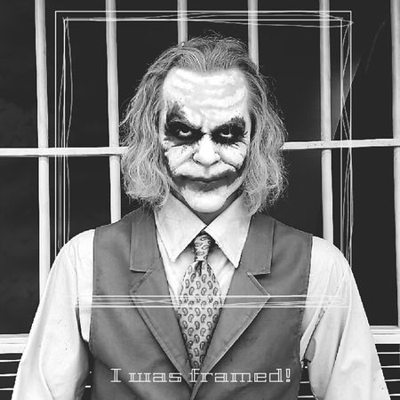The Joker LOL Living Life Black & White