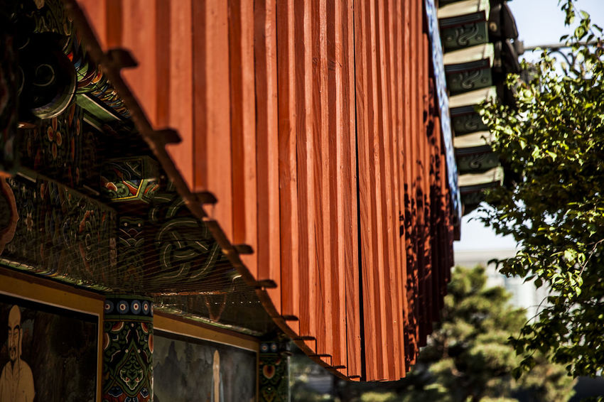 Bongeunsa Buddha Buddhism Buddhist Temple Closed Cultures Curtain Door Eaves Famous Place Hanging Home Interior House Indoors  Metal Ornate Pattern Religion Spirituality Wall Wall - Building Feature Window Wood Wood - Material Wooden