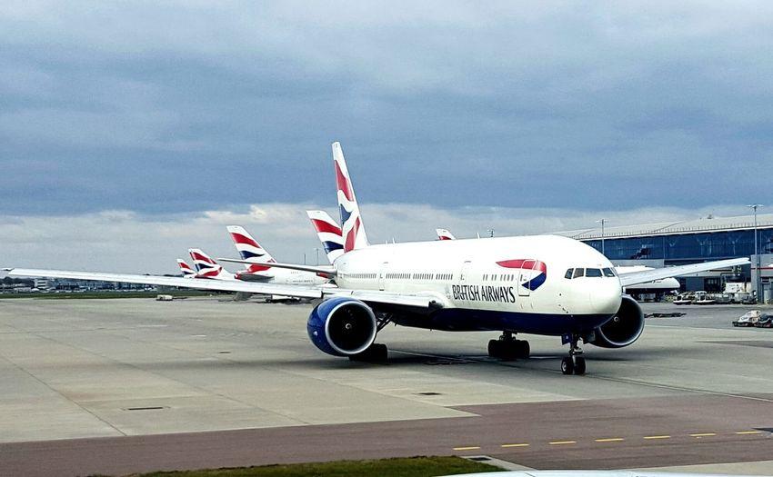 Heatrow From An Airplane Window Taking Off British Airways AirPlane ✈