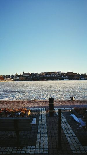 Stockholm Clear Sky Outdoors Lake Frozen Ice Cold Sweden