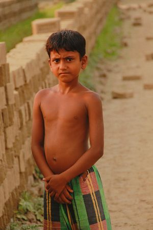 Shirtless Real People Boys One Person Childhood Standing Lifestyles Portrait Looking At Camera Leisure Activity Outdoors Day People EyeEmNewHere Eyeembangladesh @anickchowdhurymp Poor