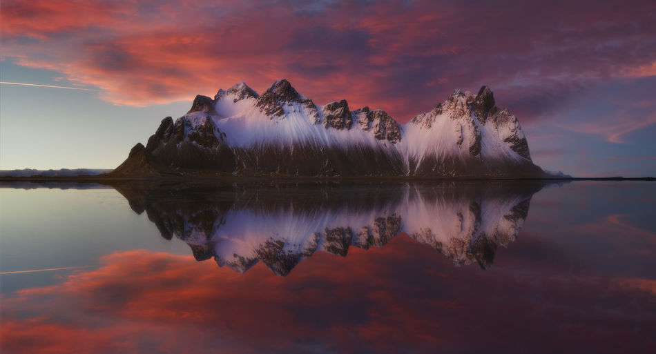 The Beautiful Stokness in Iceland Iceland Reflection Sky Sunset Water Cloud - Sky Symmetry Scenics - Nature Tranquility Beauty In Nature Waterfront Tranquil Scene Non-urban Scene Idyllic Orange Color Standing Water Reflection Lake Nature No People Outdoors