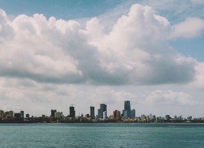 Showcase July Architecture Cityscapes Skyline Mumbai India Indiapictures Ocean View Ocean Sea Clouds Clouds And Sky A Bird's Eye View The Week On EyeEm