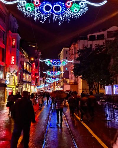 Istanbul Istanbul Turkey Istanbuldayasam Beyoğlu Beyoglu-ıstanbul Istiklal Istiklalcaddesi Turkey Street Streetphotography Street Photography First Eyeem Photo Night Illuminated Building Exterior Built Structure Architecture Large Group Of People Outdoors City Sky Neon People Gallery Photo