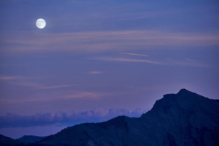 full moon over