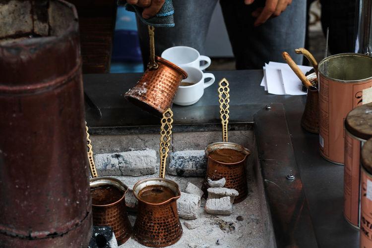 Turkish Coffee in Uskudar. Turkish Coffee Turkish Food Coffee Coffee - Drink Coffee Cup Coffee Time Coffe Break  Coffee Break Gold Golden Warm Tea Foodporn Food And Drink Foodporn❤️ Istanbul Turkey Turkeyphotooftheday Istanbul City Uskudar Kadıköy Cultures Culture London