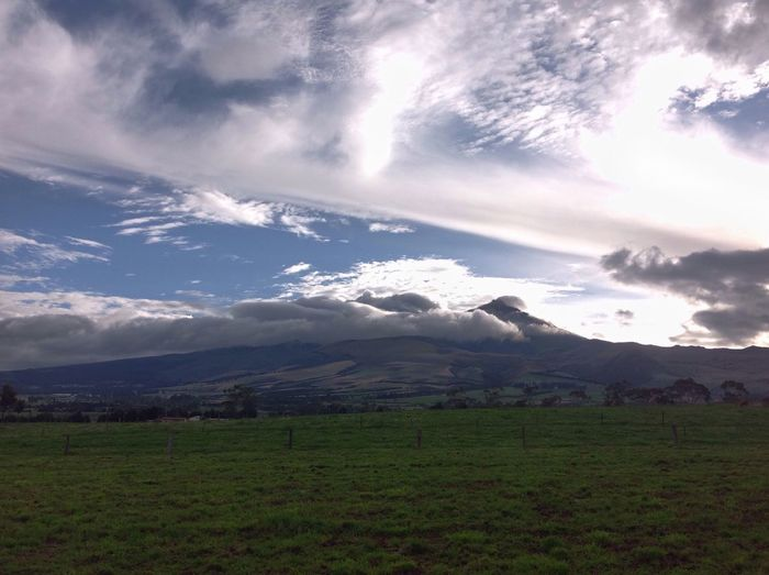 Ilinizas Mountains north and south Mountain Landscape Sky Cloud - Sky Tranquility Nature Cloud Ilinizas