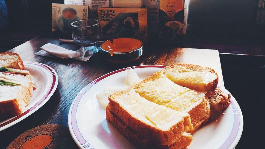 喫茶店 Japan Japan Photography Time Morning Food Coffee Coffee Shop Old Like Plate Table Egg Yolk Bread Close-up Food And Drink Sweet Food
