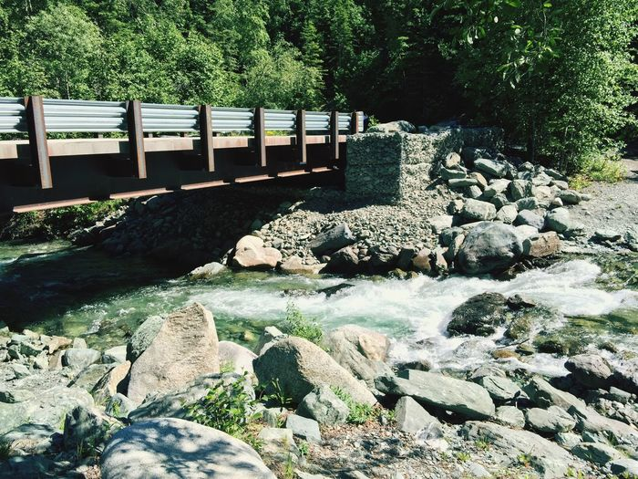 Bridge Liberty Falls Chitina Alaska Nature Clear Water River Rocks Rocks And Water