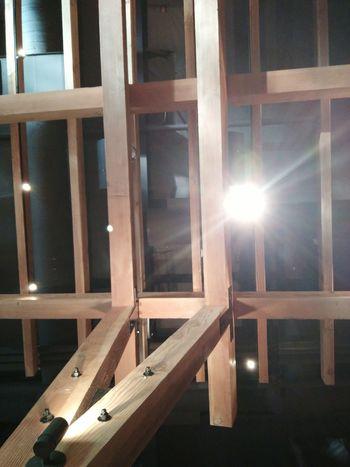 Wood - Material Sunbeam Indoors  Sunlight Wood Paneling Ceilingartwork