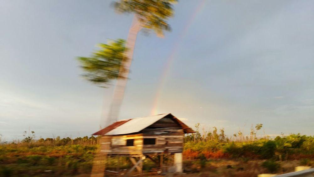 Capturing rainbow at 140 km/hour On The Way Sumatraisland BigAdventure Amazingindonesia Sumatra  Landscape Rainbow View From The Window... Ontheroad Picsfromacar Roadtrip Nature Photography Movement Photography MomentsToRemember Capturing Motion