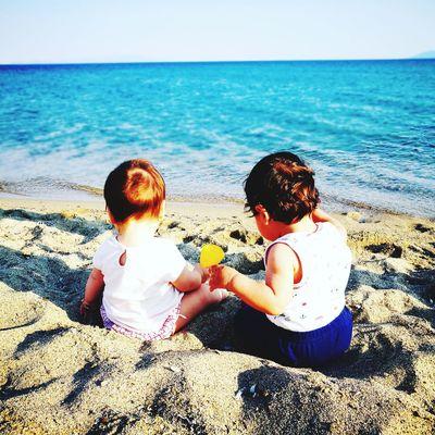 Beach Sea Childhood Sand Horizon Over Water Day Sunlight Outdoors Water Summer Kids Turkey Ayvalık