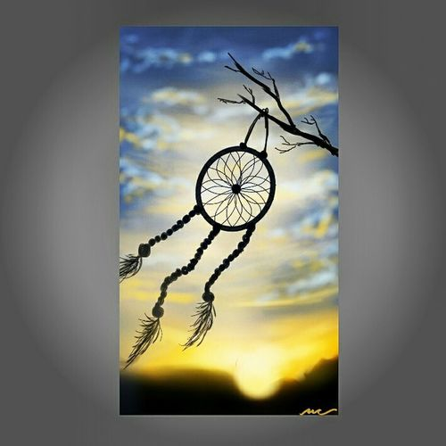 it's the possibility of having a dream come true that makes life interesting - Paulo Coelho Dreamcatcher Dreamcapture Artsy Digitaldrawing