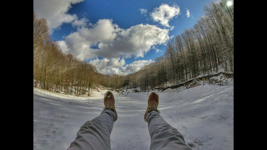 Waiting Game Sky Cloud - Sky Low Section Human Body Part Personal Perspective People Human Leg One Person Water Foot Day Adults Only Men Adult Outdoors Close-up Nature Gopro Acerno Lucidistortephoto