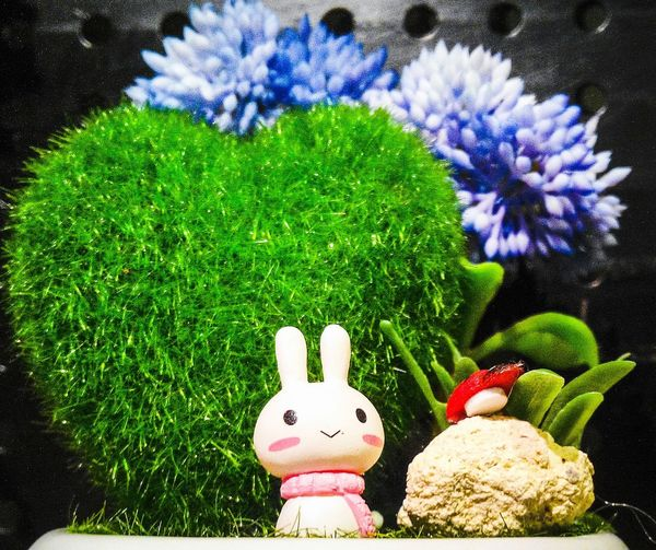 """Perhaps it's the most beautiful world in a child's mind.. Now I understood why """"ignorance is bliss""""... But, I'll also note, """" once you've tried, you'll never stop"""" like a drug... Cute Bunny  Toy Minifigures Bruno90 Handmade Handicraft ArtWork Clay Sculpture Synergy"""