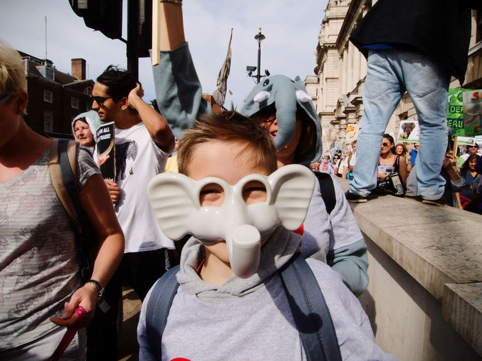 Global March Fro Elephants And Rhinos, London, U.K., 24/09/2016 Anti Poaching Ban Ivory Elephants Global March For Elephants And R Global March For Elephants And Rhinos Ivory Trade London New News Olympus Protect Elephants Protest Steve Merrick Stevesevilempire Zuiko