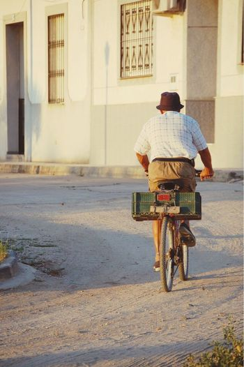 EyeEmNewHere Real People Rear View Mode Of Transport Bicycle This Week On Eyeem Can't Catch Me Second Acts Second Acts