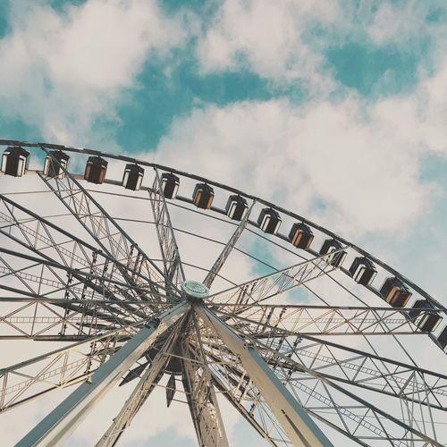 Amusement Park Amusement Park Ride Arts Culture And Entertainment Big Wheel Cloud - Sky Day Ferris Wheel Low Angle View No People Outdoors Sky